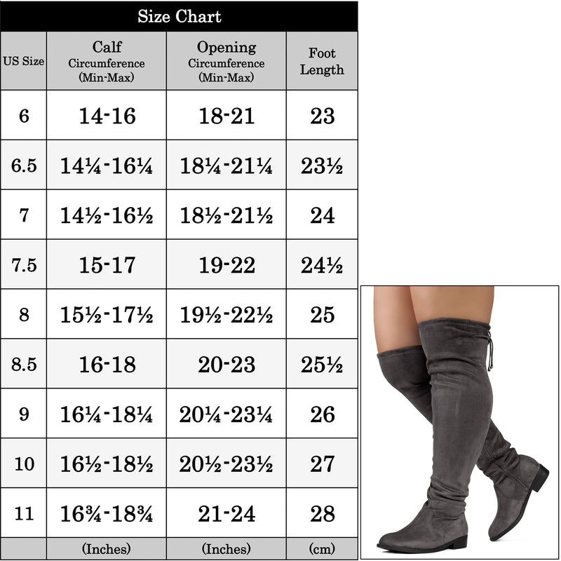 """Wide Calf & Width"" Stretchy Over The Knee Sock Boots GREY"