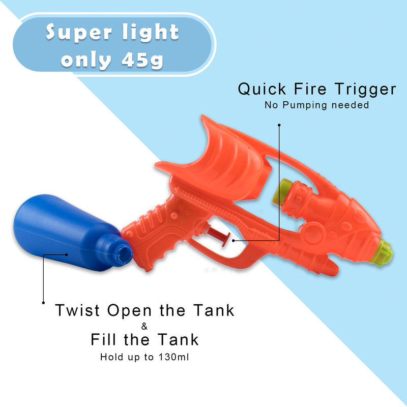 "Water Gun 9.25"" Water Soaker Blaster Long Range Squirt Gun Swimming Pool Kids Boys Girls Adults, Party Favors Water Outdoor Fighting Toys"
