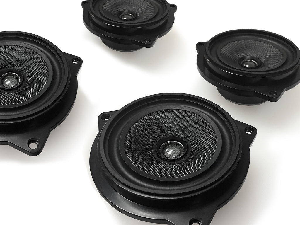 Coaxial Stage One BMW Speaker Upgrade for E90/E91/E92 Sedan/Convertible/Coupe with Base Audio