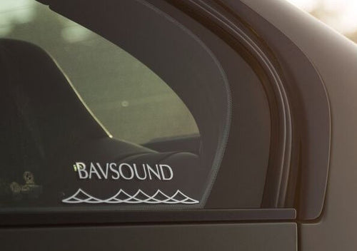 Bavsound Wave Window Stickers (Pack of 3)