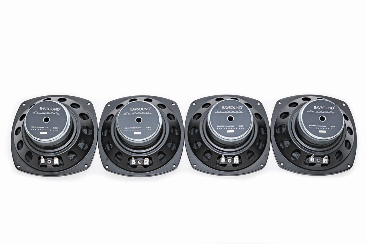 Rear Deck Subwoofer Replacement Kit (4 Speakers) BMW E38 7 Series 1995-2001
