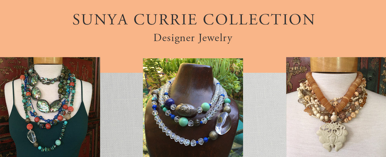 photo of custom designed necklaces by Sunya Currie