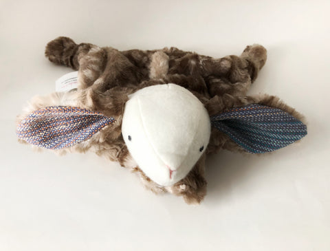 Magdalena Bunny Lovey with Luxe Minky chickadee & hen