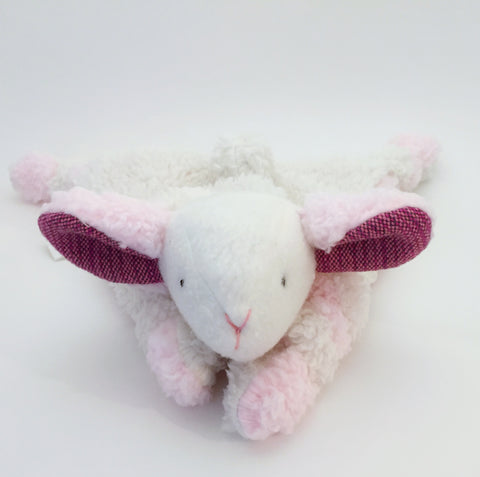 Strawberry Swirl Lamb Lovey with I Dream of Buttercream Wrap Scrap chickadee & hen
