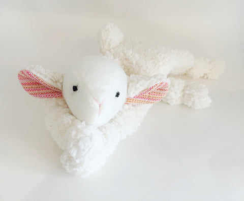 "Lamb Lovey with Meeyoo ""Avery"" Wrap Scrap chickadee & hen"