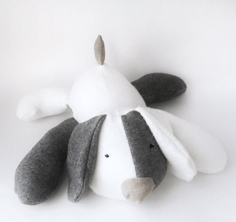 Large Puppy Plush, Natural + Organic chickadee & hen