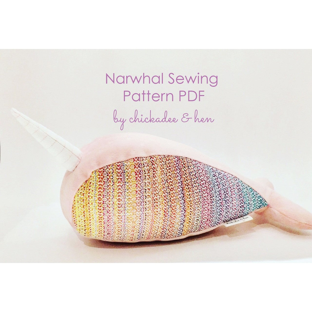 Narwhal Sewing Pattern PDF, easy sewing instructions for beginner ...
