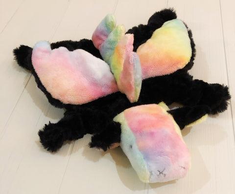 Midnight Rainbow Winged Dino Lovey chickadee & hen