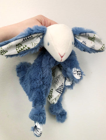 Bluebell Winter Forest Bunny Lovey chickadee & hen
