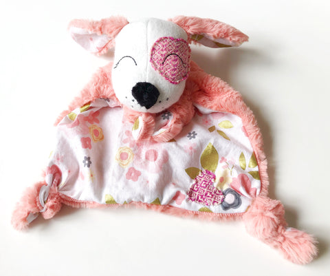 Wonderland Floral Puppy Lovey chickadee & hen