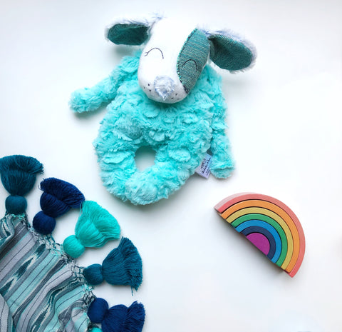 Teal Buttercream Puppy Snuggle Plush
