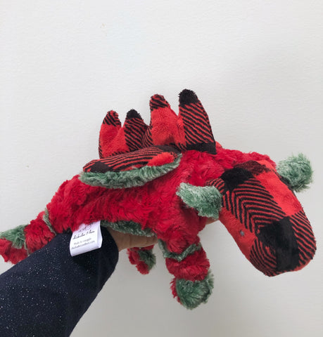 Christmas Winged Dino Lovey chickadee & hen