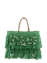 Load image into Gallery viewer, Jute Fringe Straw Tote