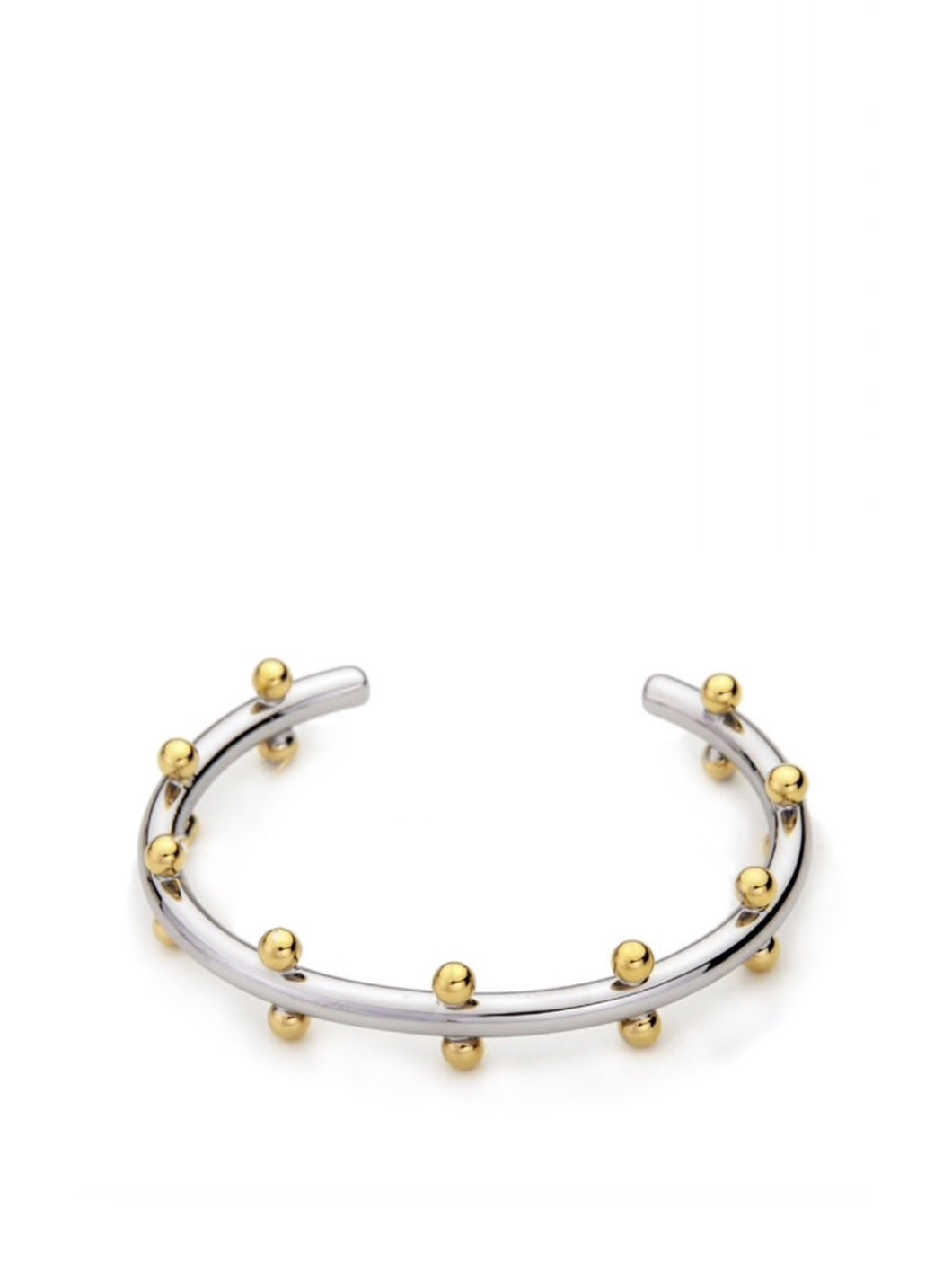 Chic Beaded Bangle Mixed Metal