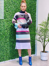 Load image into Gallery viewer, Christie Knitted Stripe Dress
