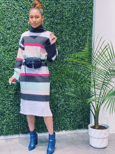 Christie Knitted Stripe Dress