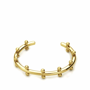 Chic Beaded Bangle Gold