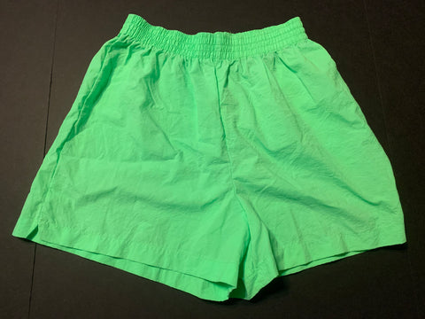 Vintage Pacific Neon Green Shorts Sz XL
