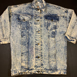 Vintage Acid Wash Denim Jacket Sz Medium