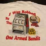 Vintage Thrashed Slot Machine Robbed Tshirt Sz XL