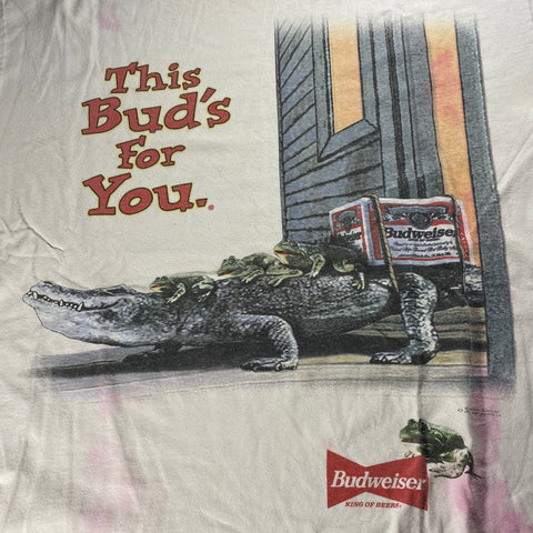 Vintage Budweiser 'This Bud's For You' Tee Sz XL