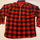 Reversible Plaid Marlboro Fleece Pullover Sz XL