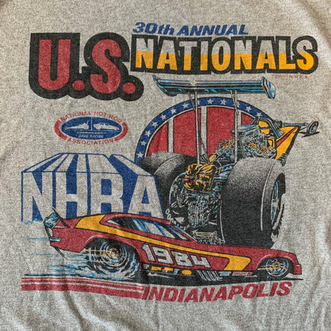 VTG 1984 Hot Rod Asoc. Indy Tshirt Sz Med