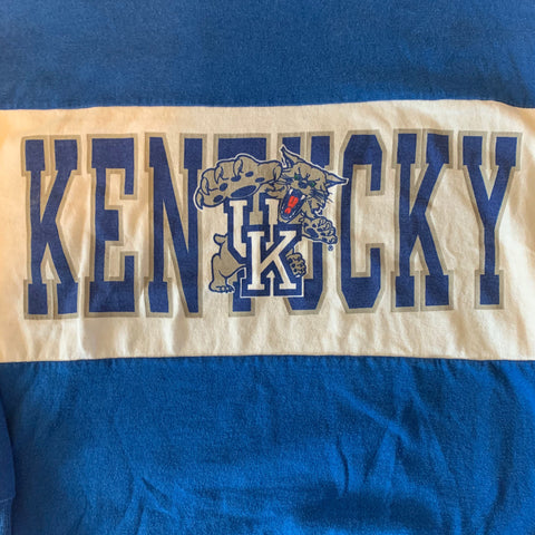 Vintage Kentucky Wildcats Colorblock Sweater Sz L