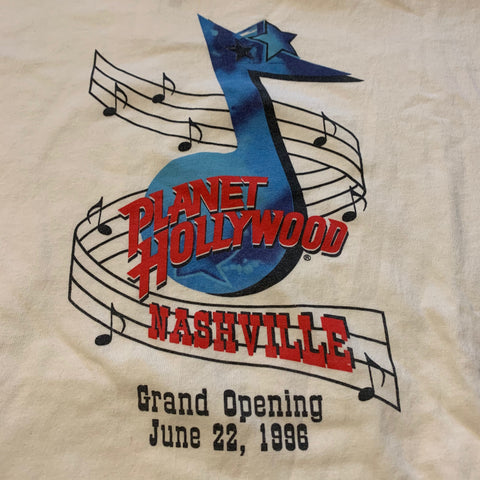1996 Planet Hollywood Grand Opening Tshirt Sz L