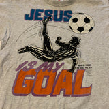 Vtg Jesus Is The Goal Soccer Tee Sz L