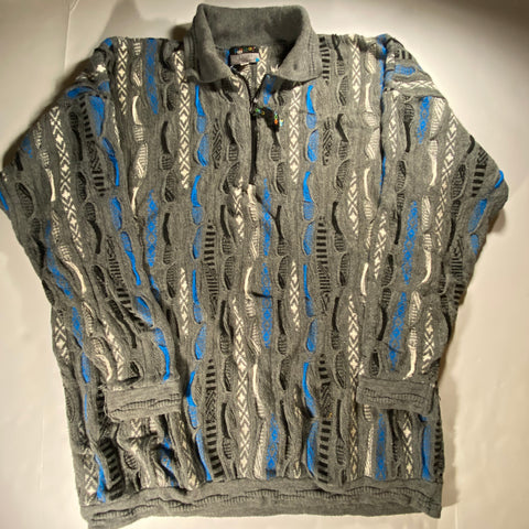 Coogi Quarter Zip Sweater fits XXL