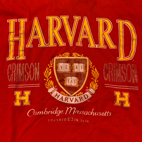 Vintage Harvard Graphic T-shirt Sz L