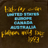 1993 Billy Ray Cyrus World Tour Tshirt Sz Large