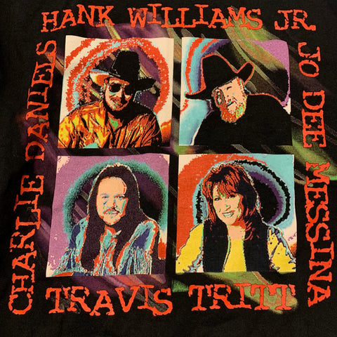 Vintage Hank Williams Fruit of the Loom Tour Tshirt Sz XL