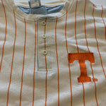 Vintage Tennessee Vols Striped Henley Shirt Sz XL