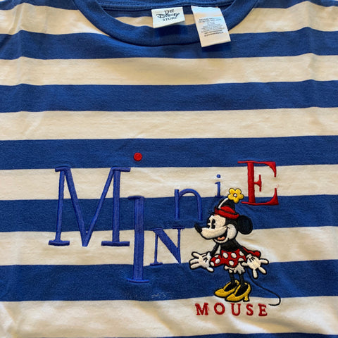 Minnie Mouse Striped Tshirt Sz Medium