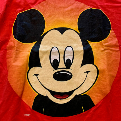 Vintage Big Face Mickey Tshirt Sz L