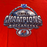 Vintage Tampa Bay Buccaneers Division Championship Tee Sz Large