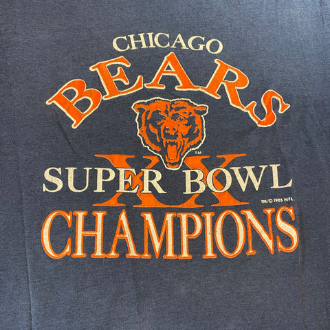 Vintage Chicago Bears Super Bowl Champions Tee Sz Youth Large