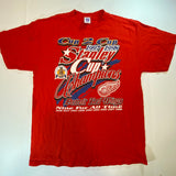 "Vintage ""Cup 2 Cup"" Detroit Red Wings Tee Sz Large"