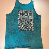 Vintage Teal Seas Hawaii Tank Top Sz XL
