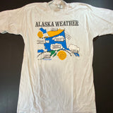 Vintage Alaska Weather Tee Sz Medium
