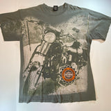 Vintage Harley All-Over Print Tee Sz Large