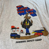 Vintage Summer Saftey Camp Tee Sz Large