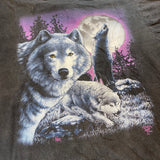 Vintage Howling Wolf Nature Tee Sz Large