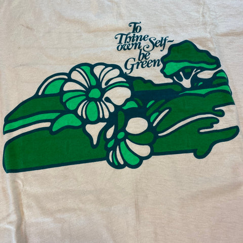 Vintage 'To Thine Own Self be Green' Tee Sz Large