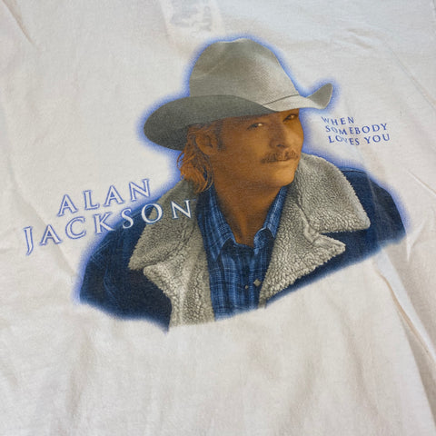 2001 Alan Jackson Tour Tee Sz Large