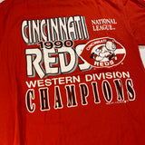 Vintage Cincinnati Reds '90 Division Champion Tee fits Small