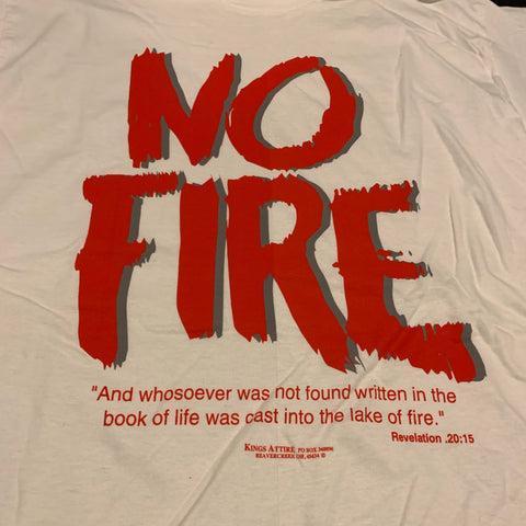 Vintage No Fire Jesus T-shirt