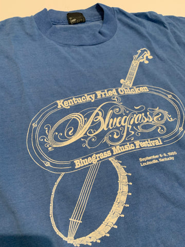 Vintage Kentucky Fried Chicken Bluegrass music festival tee size women's medium
